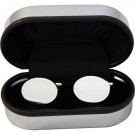 Silver plated oval cufflinks in Chrome Presentation Box