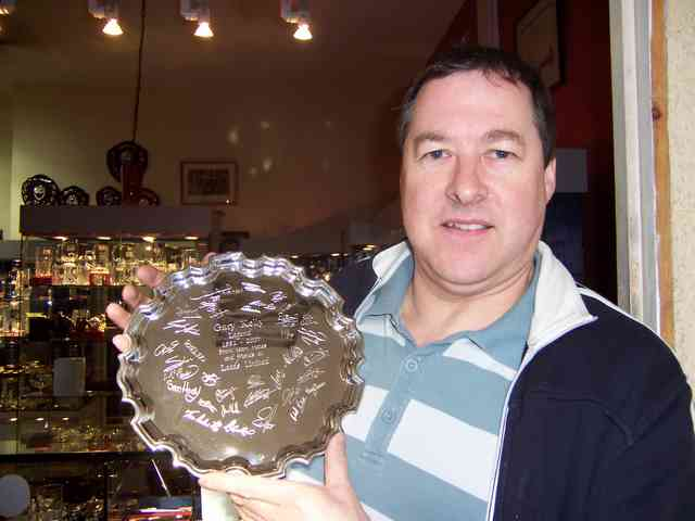 Steve and Leeds United salver