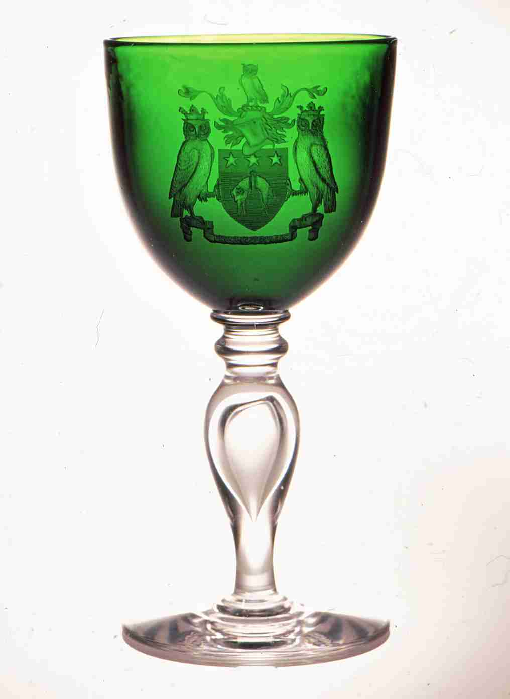 Leeds Crest Goblet - engraved by Peter Russell