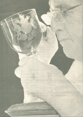 Peter Russell hand engraving goblet