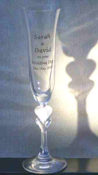 Engraved Sweetheart Champagne Flute